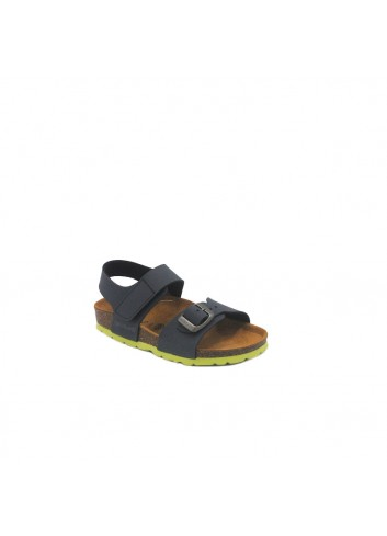 SANDALETTO 26-37 BIO BLUE-LIME
